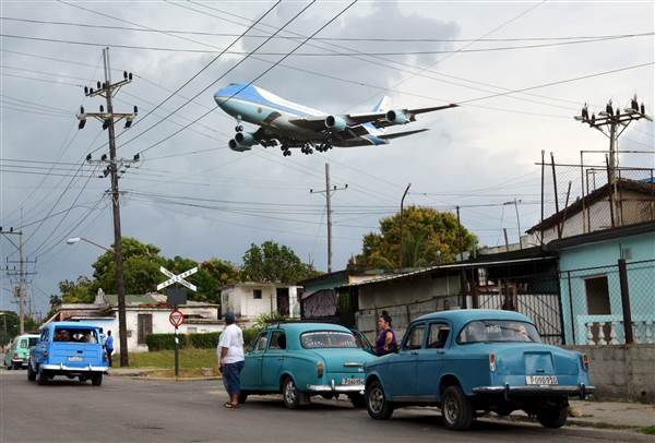 air force one over cuba